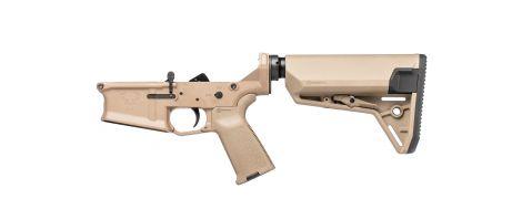 Stag 10 Marksman Complete Lower - FDE - Left-Handed