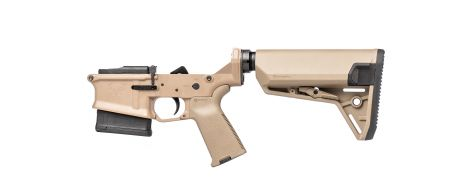 Stag 10 Marksman Complete Lower - FDE - NY/CA-Compliant - Left-Handed